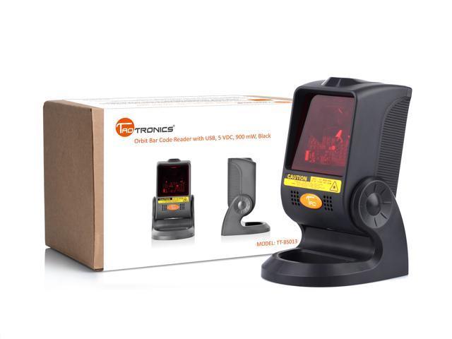 TaoTronics TT-BS015 Orbit Omni-Directional Bar Code Scanner Reader with USB, 5 VDC, 900 mW, 20-line, Black Laser Barcode Scanner
