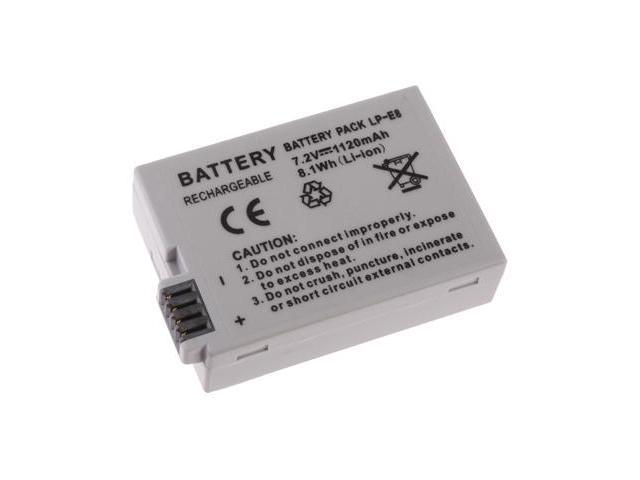 Battery For Canon LP-E8 Digital Rebel T2i EOS 550D