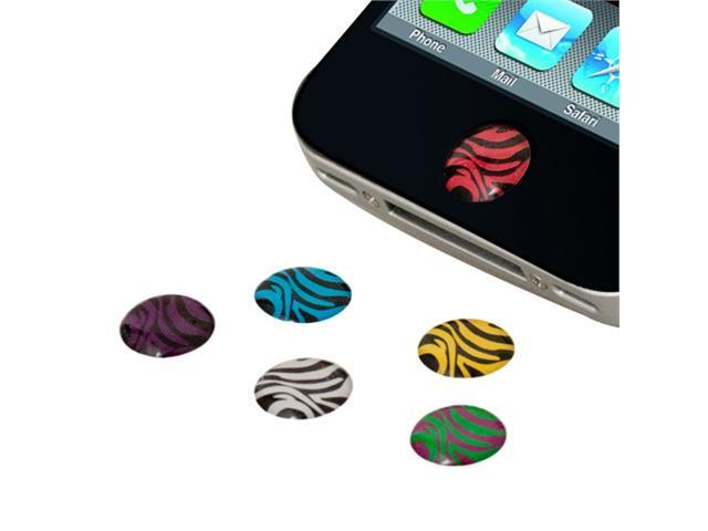 6PCS Strip Home Button Stickers Accessory For Apple iPhone 1 3 3GS 4 G 4S 4th