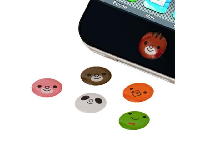 6PCS Cute Animal Home button Sticker for Apple iPhone 4 4S 3GS 3G 1G 4th 4G