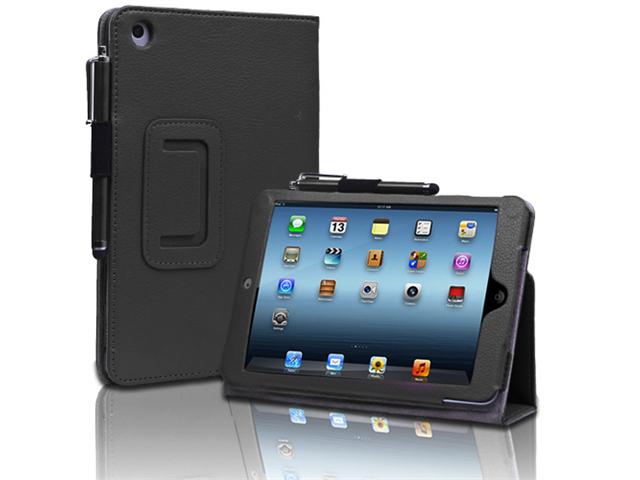 Apple iPad Mini Case - Slim Fit Leather Folio Smart Cover ...