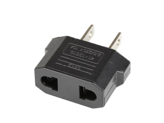 US USA To EU Europe Travel Charger Power Adapter Converter Wall Plug