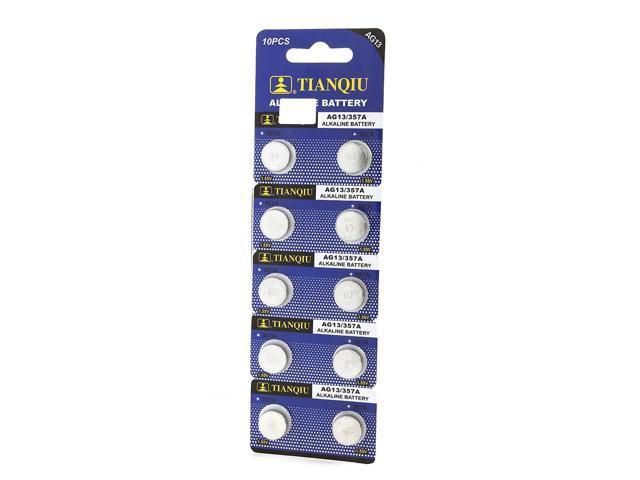 10 Pack LR44 AG13 357 357A A76 303 L1154 1.5 Volt Alkaline Batteries