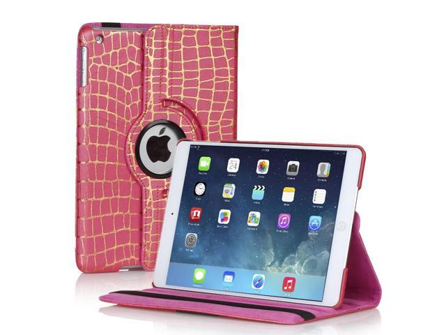 Apple iPad Mini Case - 360 Degree Rotating Stand Smart Cover PU Leather Case For iPad mini 3 / iPad mini 2 with Built-in ...