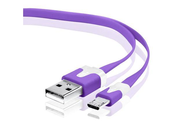 3ft Micro USB Data Charger Cable for Samsung HTC Motorola Cellphone Tablet Purple