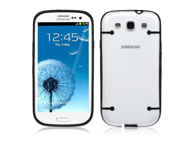 Samsung Galaxy S3 Case - Rugged Rubber Matte Snap on Hard PC Ultra Thin Glow in Dark Case Cover With Black Bumper Crystal Transparent TPU Back For Samsung Galaxy S3 SIII I9300