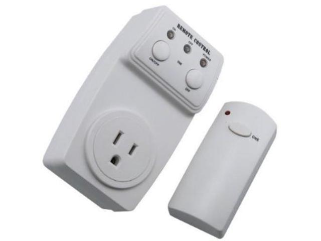 Remote Control Outdoor Wall Lights : Wireless Remote Control Outlet 1 Pack - Remotely Control Power AC Electrical Switch Socket Plug ...