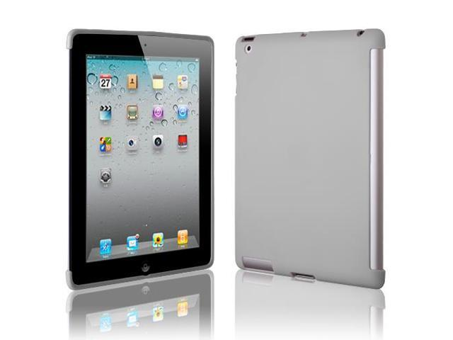 Apple iPad 2/3/4 Companion Case - TPU Clear Smart Back Cover Only - For iPad 4th Generation With Retina Display, the New iPad 3 & iPad 2 - Gray