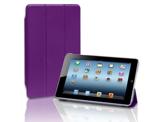 Apple iPad Mini Case - Slim Folio Leather Smart Cover Case Stand For Apple iPad Mini 1st Gen with Automatic Sleep & Wake Feature Purple
