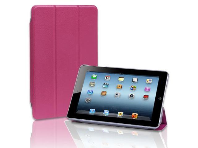 Apple iPad Mini Case - Slim Folio Leather Smart Cover Case Stand For Apple iPad Mini 1st Gen with Automatic Sleep & Wake Feature Pink