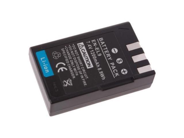 7.4V 750mAh Rechargeable EN-EL9 EN-EL9A Lithium-Ion Replacement Battery Pack For Nikon CoolPix S6400 D3000 D3X D40 D40x D5000 ...