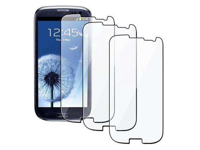 3PCS Clear Transparent Screen Protector Guard For Samsung Galaxy SIII S3 I9300 Anti-Glare Anti-Fingerprint Maximun Clarity and Touchscreen Accuracy 3 Pack