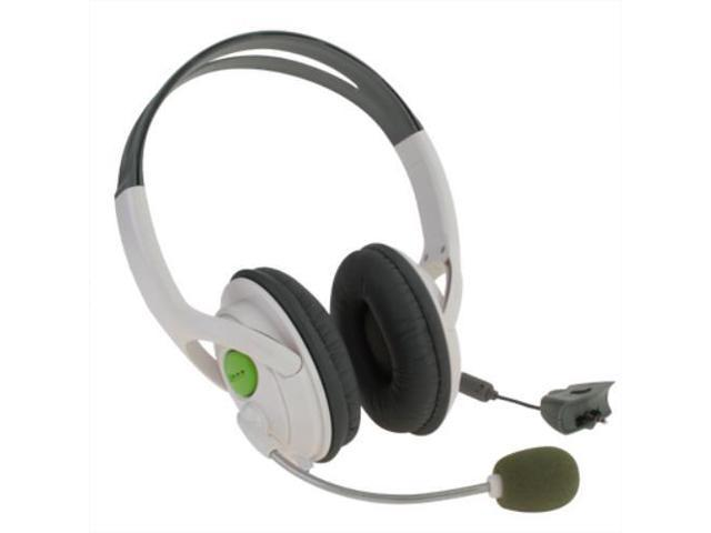 Xbox 360 Gaming Chat Live Headset Headphone With Adjustable Mic Microphone For Microsoft XBOX360 Wireless Game Controller with 2.5mm Jack White