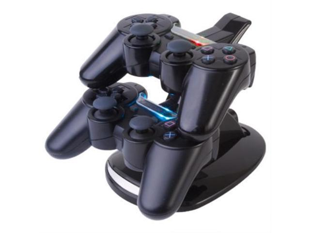 PS3 Charging Station - Dual Dock USB Charger Station Cradle Stand Base Dualshock for Sony Playstation 3 Wireless Game Controller with LED Indicator Black