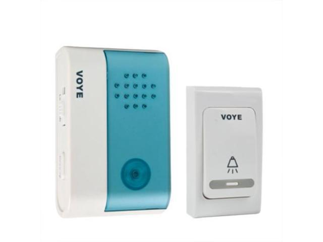 Wireless Door Bell Kit Portable Doorbell 1 Remote Push Botton 1 Plugin Digital Receiver Battery Operated 80M / 200FT Working Range Adjustable Volume Control