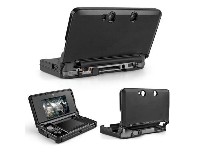 3DS Case (Black) - Full Body Protective Snap-on Hard Shell Aluminium Plastic Skin Cover for Nintendo 3DS 2011 Model