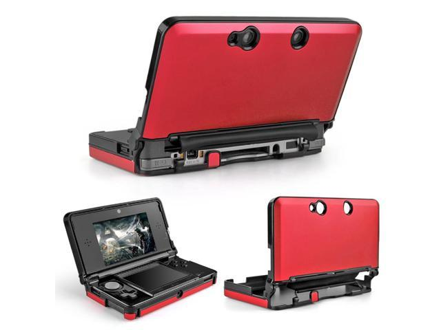 3DS Case (Red) - Full Body Protective Snap-on Hard Shell Aluminium Plastic Skin Cover for Nintendo 3DS 2011 Model