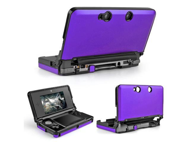 3DS Case (Purple) - Full Body Protective Snap-on Hard Shell Aluminium Plastic Skin Cover for Nintendo 3DS 2011 Model