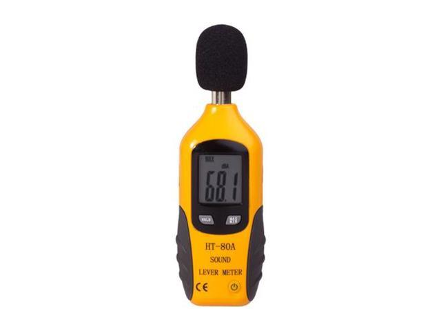 Digital Decibel Sound Meter Level Tester Pressure Noise Measurement Tool Portable 30 dBA - 130 dBA with LCD Display Battery ...