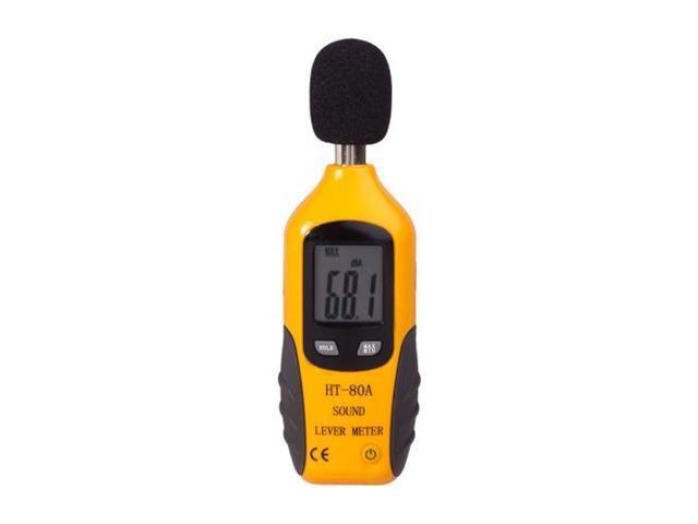 Digital Decibel Sound Meter Level Tester Pressure Noise Measurement Tool Portable 30 dBA - 130 dBA with LCD Display Battery ...