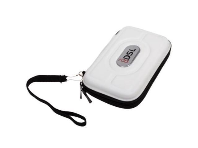 New 3DS Case (White) - EVA Hard Compact Travel Protective Carrying Bag Pouch Cover Zippered Sleeve for Nintendo DSi NDS NDSi / DS Lite DSL NDSL / New 3DS and 3DS Gaming Console