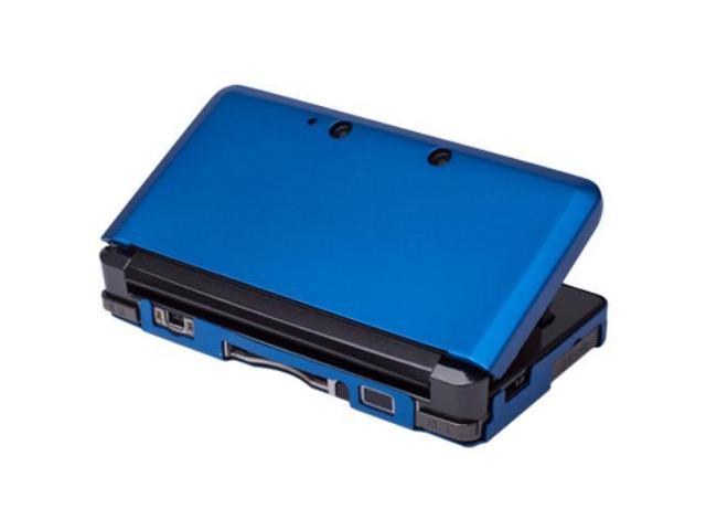 3DS Case (Blue) - Aluminum Hard Shell Full Body Protective Cover Skin Metal Box Snap On Accessory Compatible with Nintendo 3DS