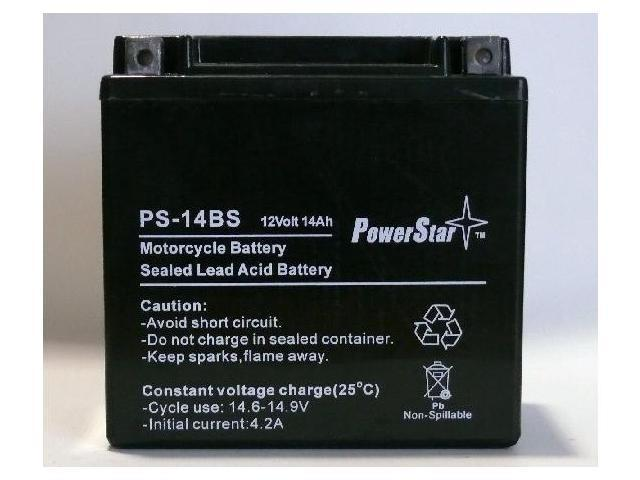 PowerStar PS-14BS Motorcycle Battery replaces UBVT-8