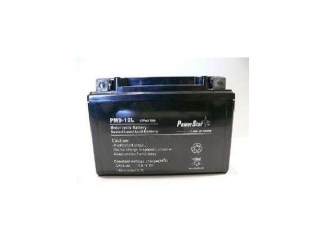 PowerStar PM9-BS Battery Fits or replaces Kymco Motorcycle 125 cc B+W