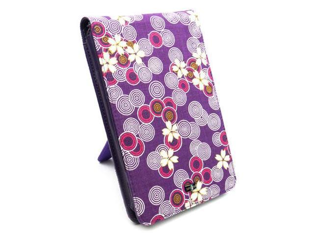 "JAVOedge Cherry Blossom Flip Case with Stand for Amazon Kindle Fire 7"" (Twilight Purple)"