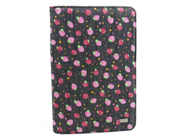 JAVOedge Strawberry Jeans Multi-Angled Book Case for the Amazon Kindle Fire 7