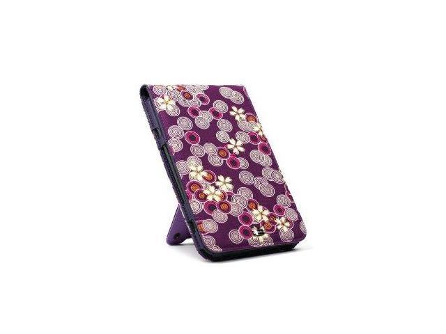 JAVOedge Cherry Blossom Flip Case with Stand for Amazon Kindle (2012) - Twilight Purple
