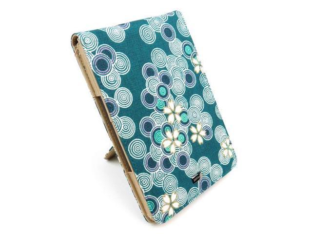 JAVOedge Cherry Blossom Flip Case with Stand for Amazon Kindle (2012) - Ocean Blue