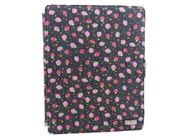 JAVOedge Strawberry Jean 360 Rotating Smart Cover Case with Stand for Apple iPad 2