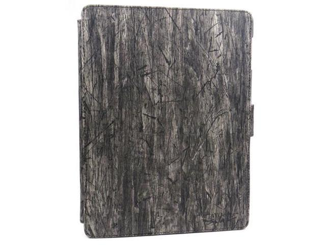 JAVOedge Black Fabric Lumberjack Pattern Axis Style 360 Rotating Smart Cover Case with Built In Stand for Apple iPad 2