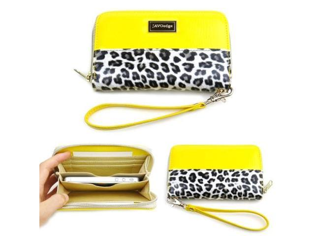 Leopard Zipper Wallet Case (Yellow)