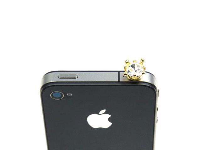 JAVOedge Crown Charm for Headphone Jack (Clear)