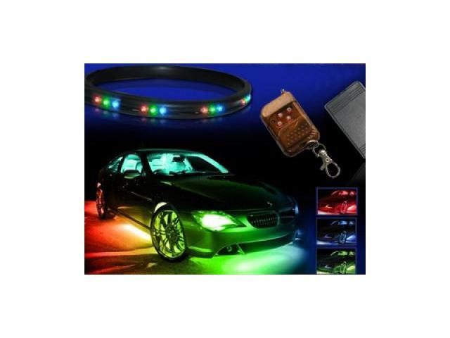7-Colors LED Undercar Neon Strip Underbody Under Car Body Light Kit