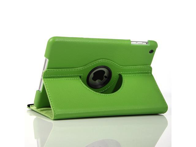 Apple iPad Mini Leather 360° Rotating Leather Folio Case - Green