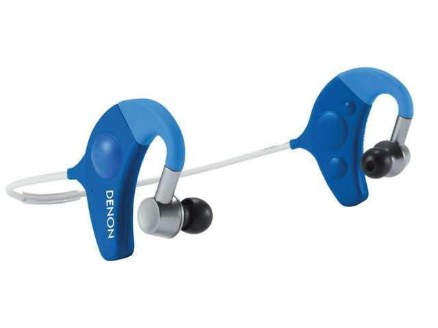 Denon Sports Series Blue/Grey Earbud Headphones and Accessories