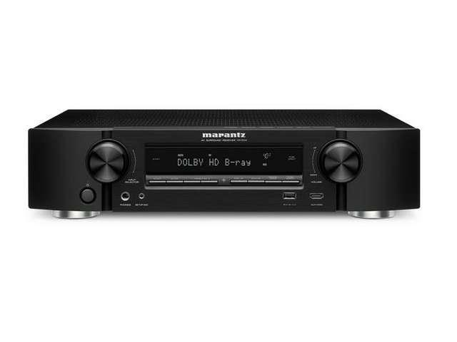 Marantz NR1504 5 Channel Home Theater Slim-Live AV Receiver with AirPlay (Black)