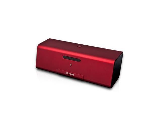 Microlab MD 212 Portable Bluetooth Speaker Dock with 30-pin Connecter and Mic (Red)