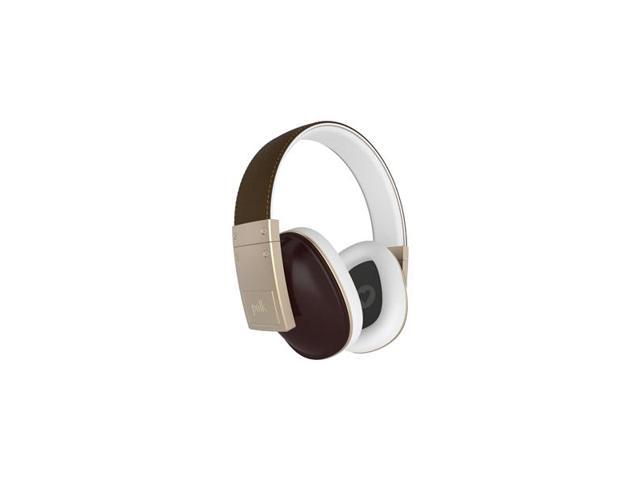 Polk Audio Buckle Over-Ear Headphones with 3-Button Apple Control and Mic (Brown)