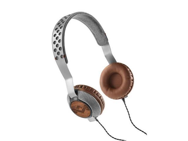 House of Marley EMJH073SD Liberate On-Ear Headphones - Saddle (Silver/Brown)
