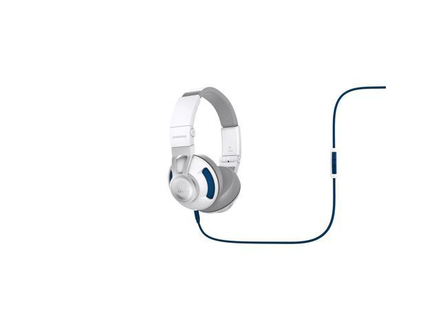 JBL Synchros S300i On-Ear Headphones with Apple In-line Mic & Controls (White/Blue)