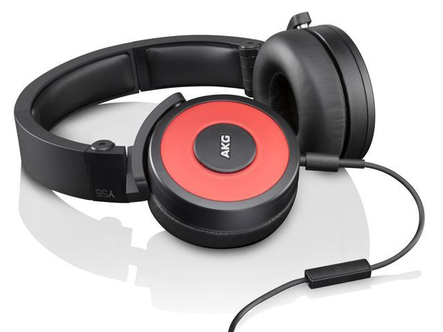 AKG Y55 On-Ear DJ Headphones With 1 Button Remote (Red)