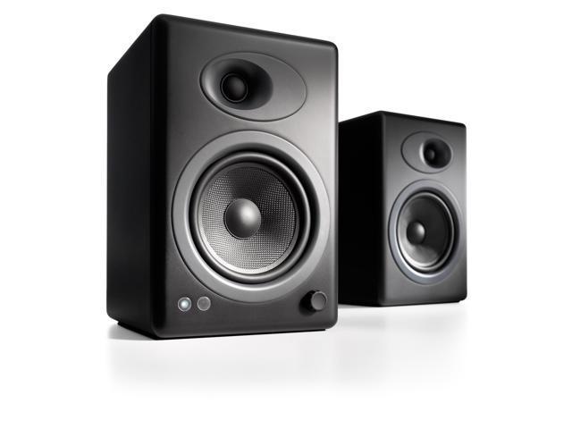 Audioengine A5+ Premium Powered Bookshelf Speakers - Pair (Black)
