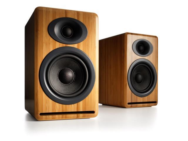 Audioengine P4 Premium Passive Bookshelf Speakers - Pair (Bamboo)