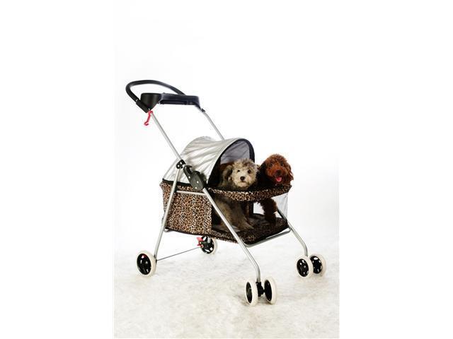 Leopard Skin Posh Pet Stroller Dogs Cats w/Cup Holder