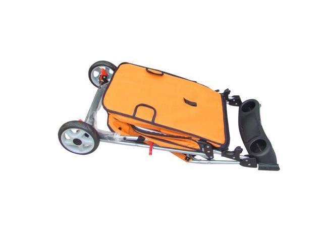 New Classic Fashion Orange 3 Wheels Pet Dog Cat Stroller w/RainCover