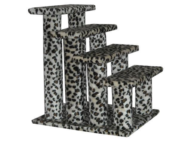 BestPet Leopard Skin 4 Steps Pet Dog Cat Step Ramps 4L